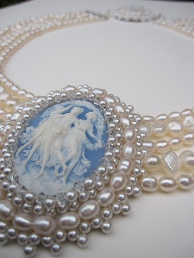 pearls. cameo