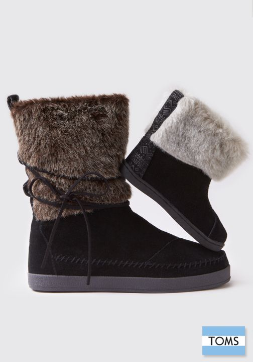 Feel-good boots in more ways than one. This style features shearling and faux fur for all-day comfort.