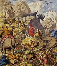 Hannibal crossing the Alps during the Second Punic War - Punic Wars - Wikipedia, the free encyclopedia