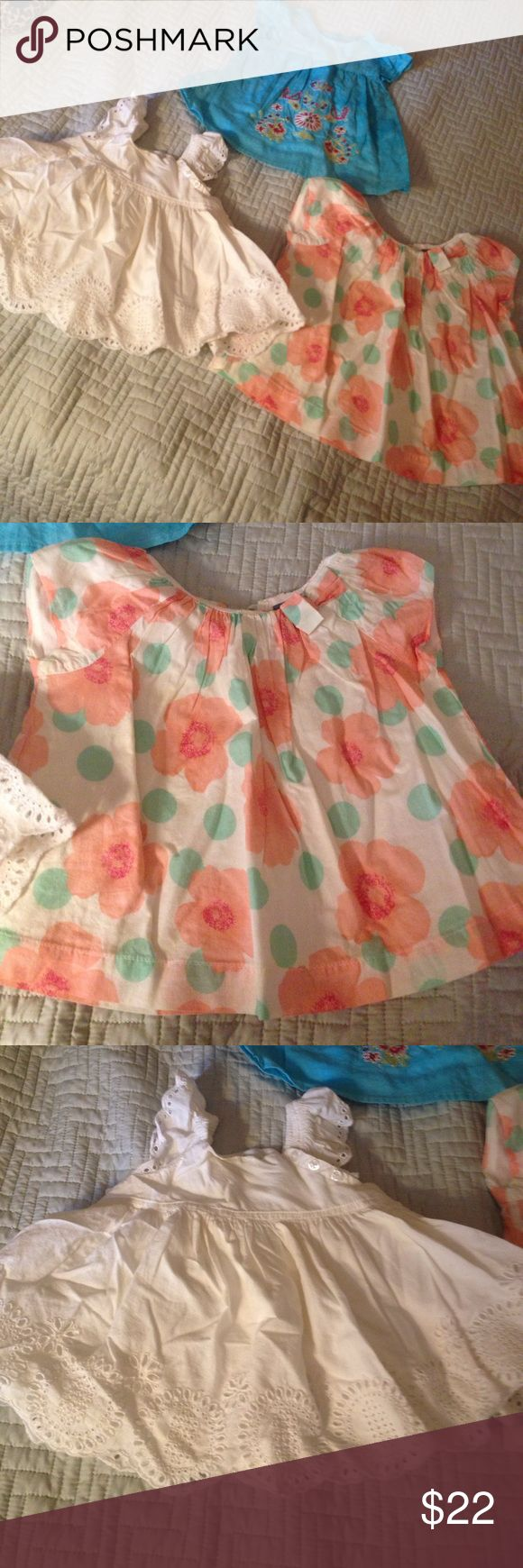 FINAL PRICE! 3 adorable summer tops All items are and in great condition. Gap & Amy Coe Brands. Summer tops. Two are size 6 to 12 and is 6 months. Final price unless bundling with other items. gap & amy coe Shirts & Tops