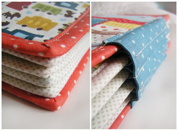 Cool way to the put the busy book pages together.