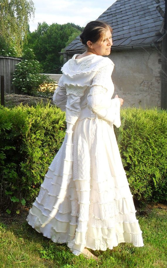 UNIKAT  Upcycled Sweatercoat, Weddingcoat, Hochzeitsmantel