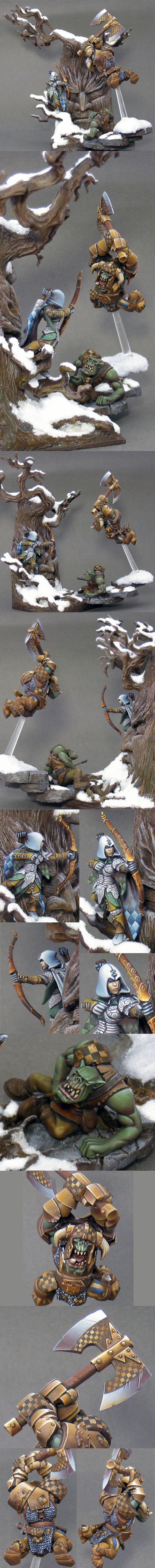 Too much noise in the woods...  Manufacturer: Games Workshop  by Nakatan - the freehand work is awesome!