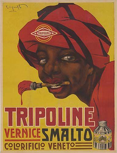 Tripoline, vernice smalto - 1920 - (Plinio Codognato) -