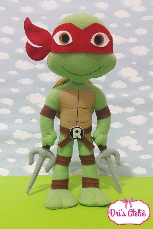 tartarugas ninjas em feltro