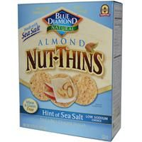 Blue Diamond, Almond Nut-Thins, Nut & Rice Cracker Snacks, Hint of Sea Salt, 4.25 oz (120.5 g) - iHerb.com