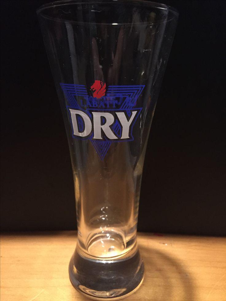 Labatt Dry  Small Draught Glass  La Catcher on back