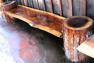 BenchRedwood Benches, Wood Ideas, Artisan Burlwood, Benches Finish, Land Projects, Benches Heights, 250 Benches, Logs Benches, Items Redwood