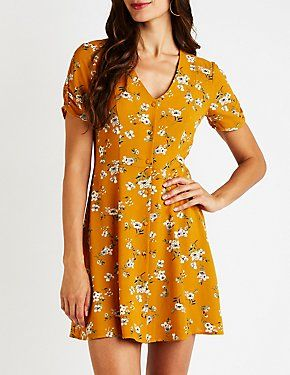 3be86848ba44 Floral Button Up Dress | Dress Up! | Button up dress, Floral button ...