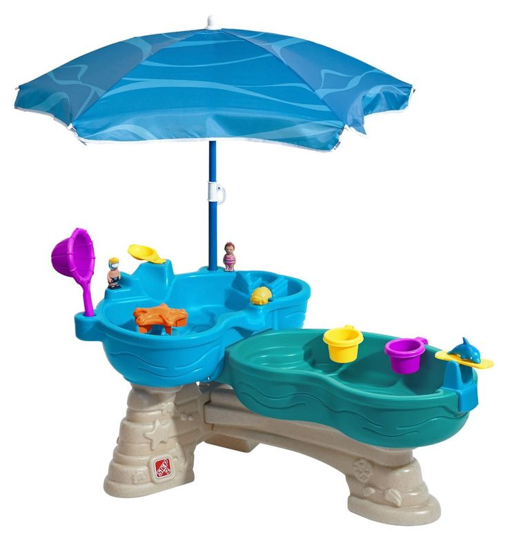 This Step 2 water table with umbrella is perfect for sunny days