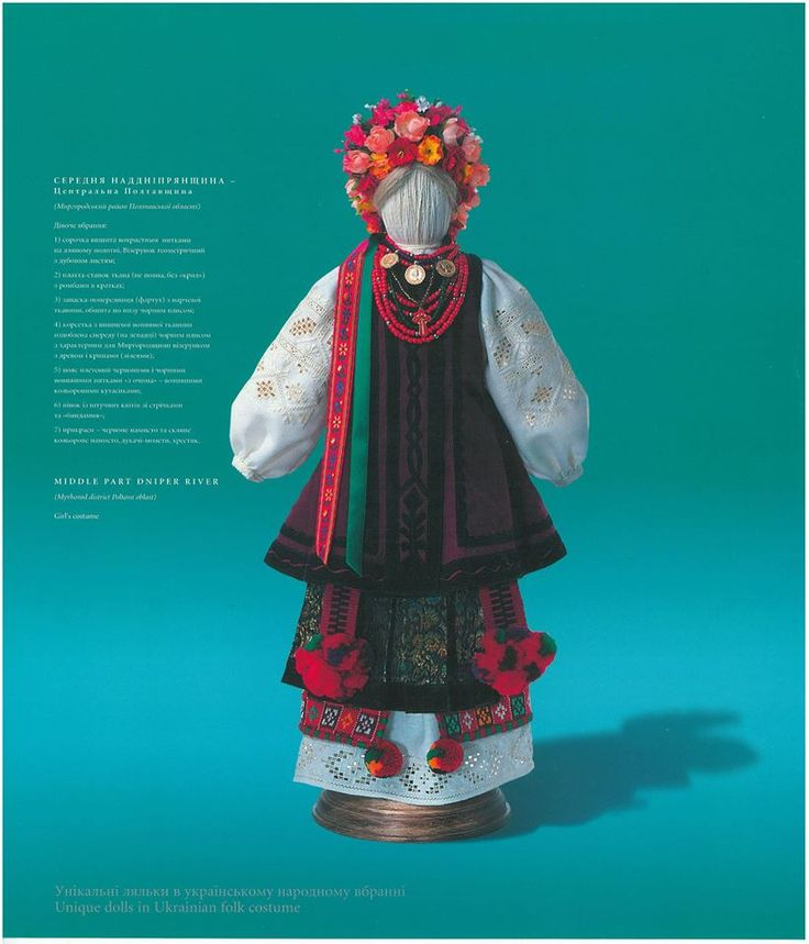Doll in Poltava folk costume by Yuri Melnychuk
