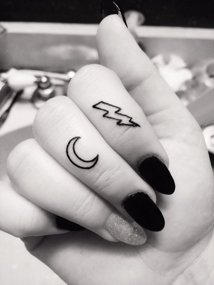 TATTOOS.ORG - Moon and Lightning Bolt tattoos - Deathly Hallows...