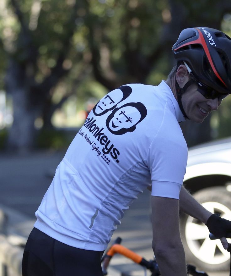 Two Monkeys Cycling ride kit. White Team jersey. Available online, ships worldwide