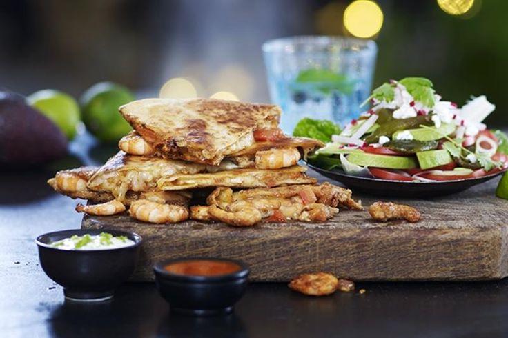 Creole Quesadillas med avokado- og poblanosalat