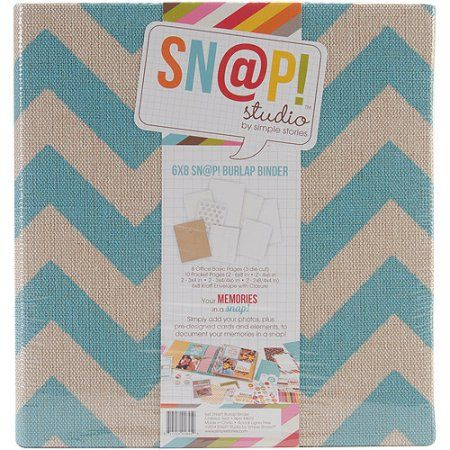 Simple Stories Snap Burlap Binder 6x8 Teal $12