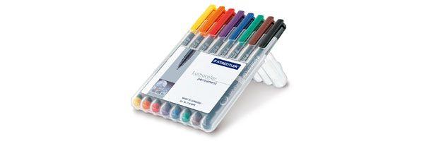 Staedtler Lumocolor Marker Pen Permanent Superfine Wallet of 8