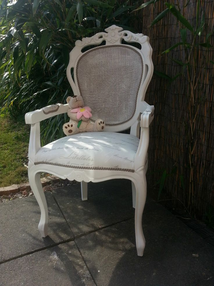 LARGE FRENCH LOUIS SHABBY CHIC ROCOCO BEDROOM CARVER CHAIR
