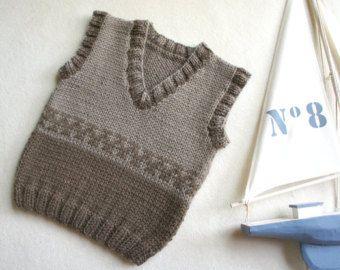 Bebé de punto chaleco top de mano hecho punto del por KsyuKnitting
