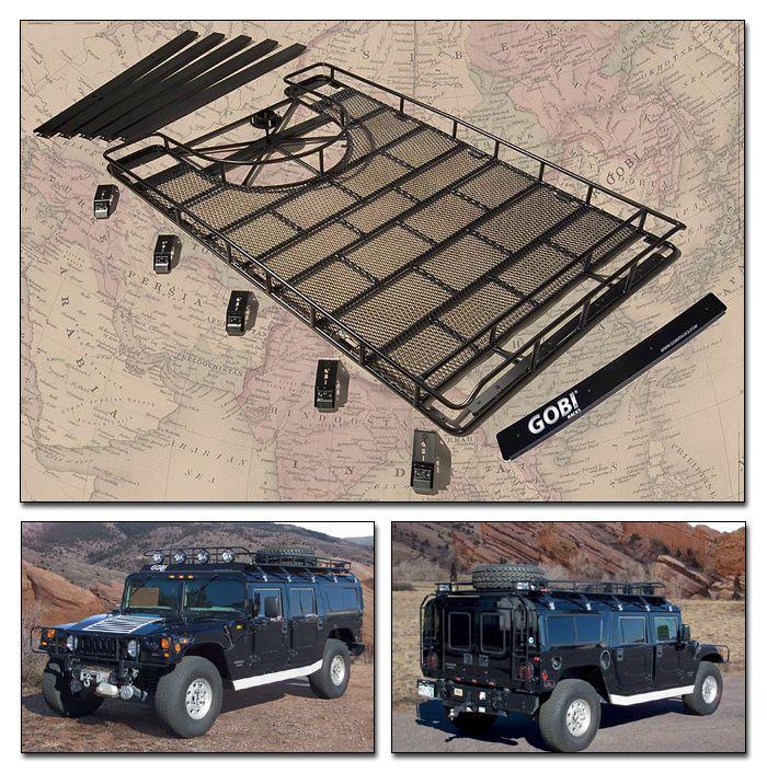 Gobi Hummer H1 Ranger Tire Carrier Roof Rack - GH1RT - Roof Racks