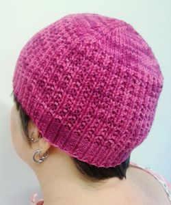 Knit chemo cap to donate for breast cancer patients! Raspberry Beanie - chemo cap - design by Lauren Sanchez