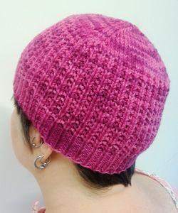 Breast Cancer project Raspberry Beanie by Lauren Sanchez