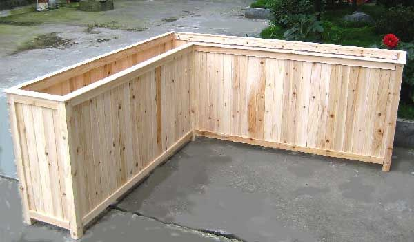 L Shape Pedestal Planter - for front door. can make this myself