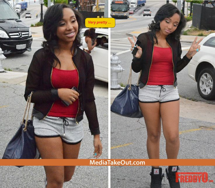 VERY PRETTY!! Rapper TI's Stepdaughter Was Spotted Out Wearing Some SHORT SHORTS . . . She Looks REAL CUTE!!