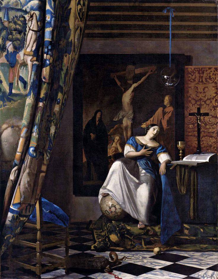 ♥ The Allegory of the Faith, 1674, Johannes Vermeer.