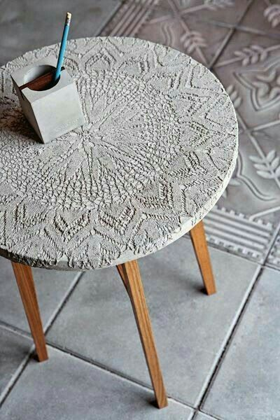 Cement table.
