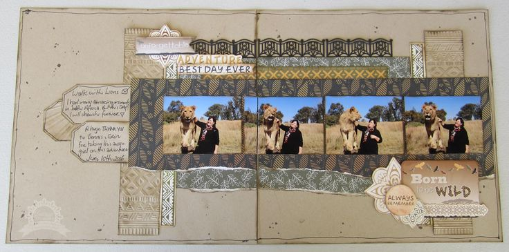 walk with lions by Kerrie Gurney Artdeco Creations