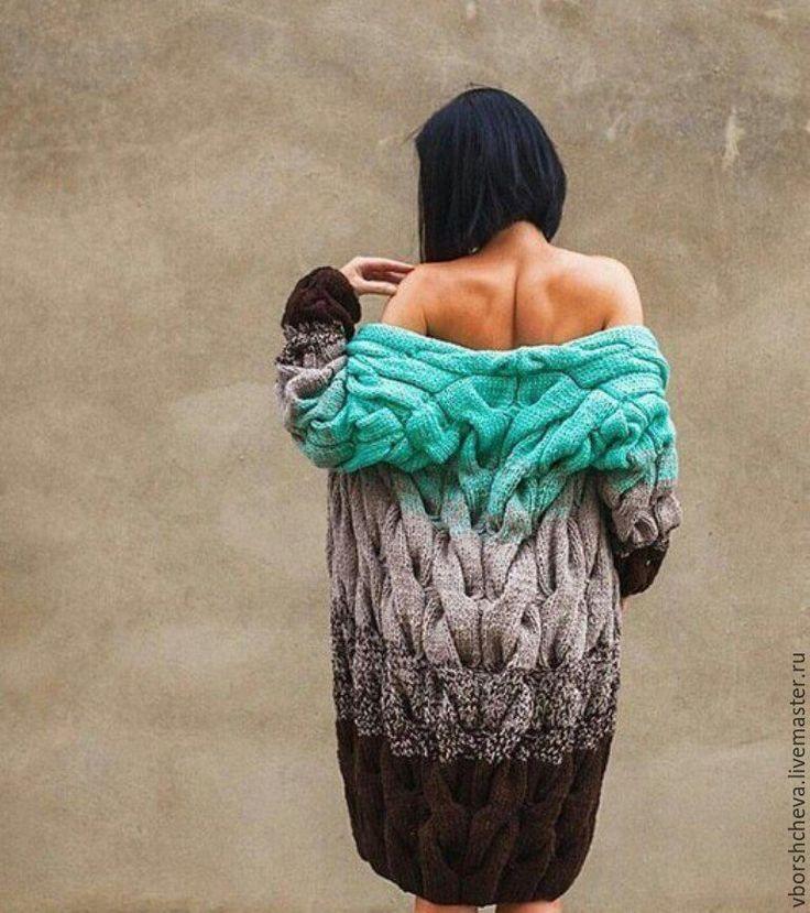 Купить Кардиган Лало - осень, весна, кардиган, кардиган вязаный, ручной работы, комбинированный, серый