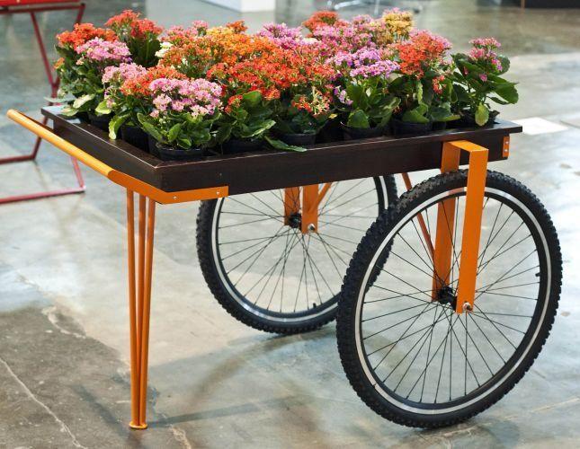 Resultado de imagem para mesinha com aro de bicicleta