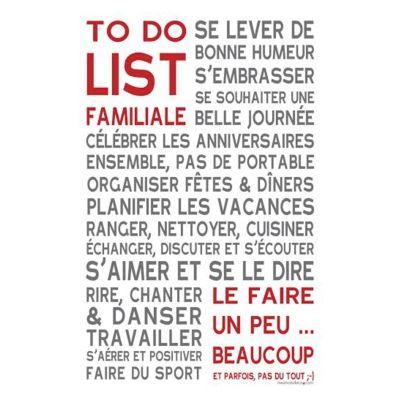 """""""to do list familiale"""" sur papier-peint adhésif - affiche - poster"""