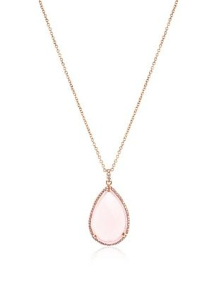 69% OFF CZ by Kenneth Jay Lane Pear Rose Quartz Necklace