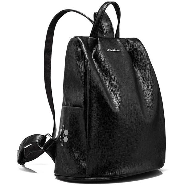 Amazon.com | Backpack 2017 Women Casual Genuine Leather Anti-theft... ($32) ❤ liked on Polyvore featuring bags, backpacks, genuine leather bag, leather rucksack, leather backpack bag, real leather bags and rucksack bags