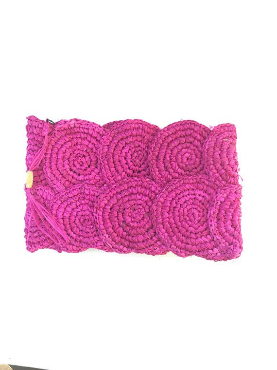 Raffia bag clutch bag crochet raffia French market bag