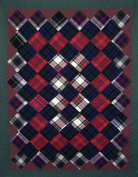 I believe I have some plaids I can use up to make a quilt almost exactly like this...
