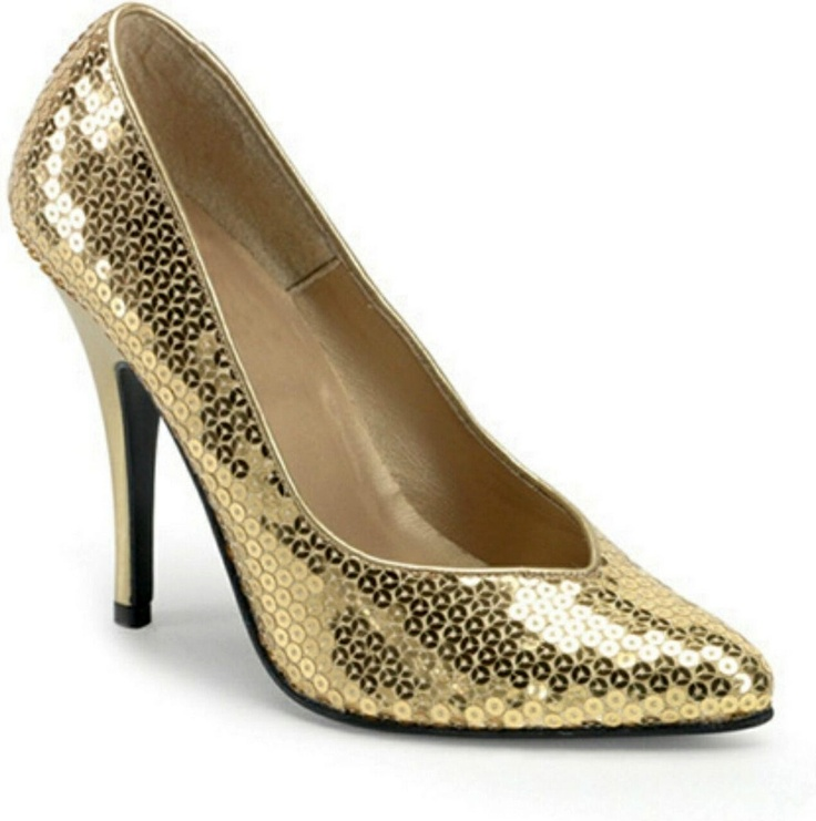 Superstar shoes for a super sexy you  Gold Sequin Heels   Adult Shoes  includes one pair of gold sequin high heel shoes 75 best Heels and Outstanding Shoes for Everyday  images on  . One Inch Heel Wedding Shoes. Home Design Ideas