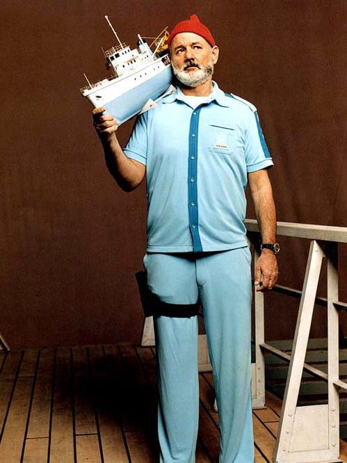 Steve Zissou (Bill Murray) en The Life Aquatic with Steve Zissou (Wes Anderson, 2004)