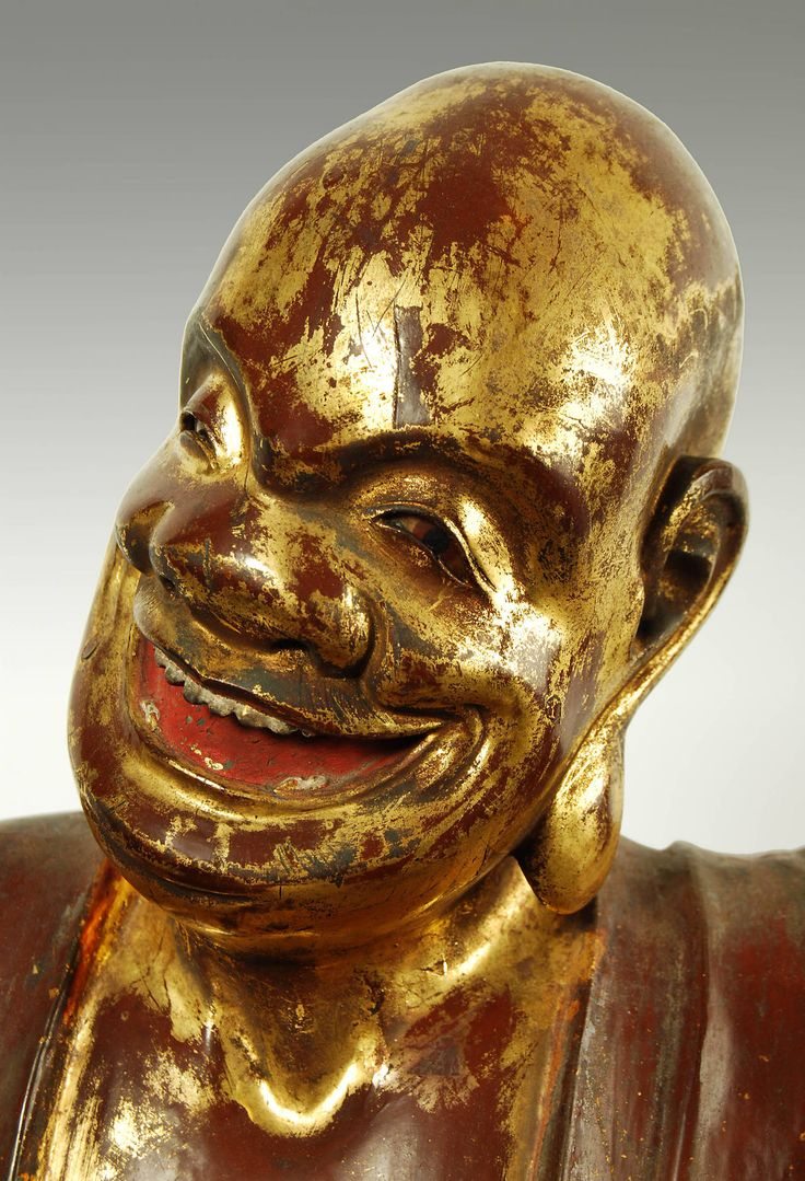 Antique Japanese Carved Statue of a Buddhist Monk, Edo Period, Circa18th at 1stdibs