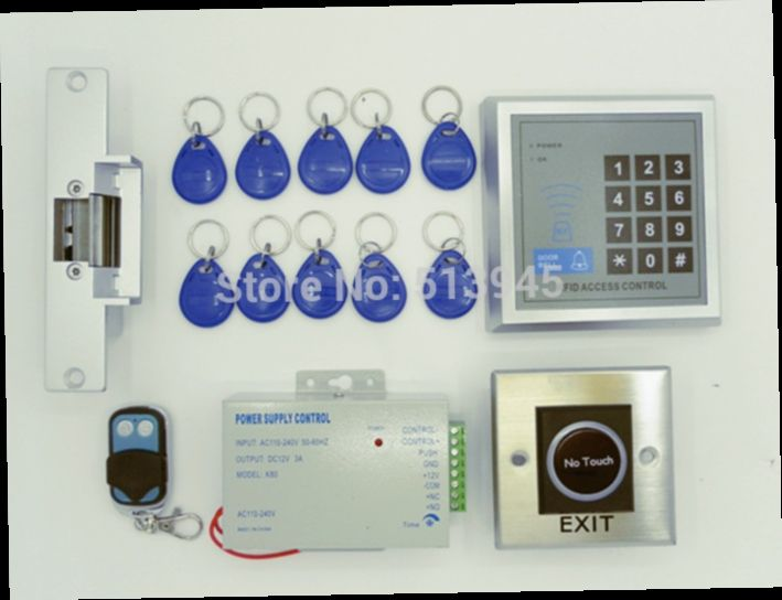 54.60$  Buy now - http://aliae8.worldwells.pw/go.php?t=32483360260 - NO Touch Switch+125KHZ RFID Access Control System + Remote Control + Electric Strike Door Lock 54.60$