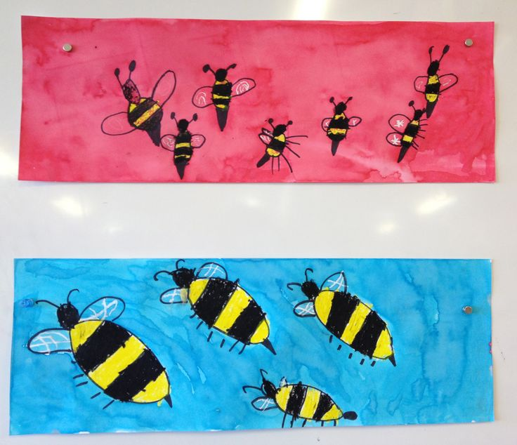 Crayon Resist Bees 2013