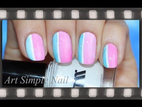 Stripe Nails | Легкий дизайн ногтей для начинающих в полоску | Полоски на ногтях - YouTube