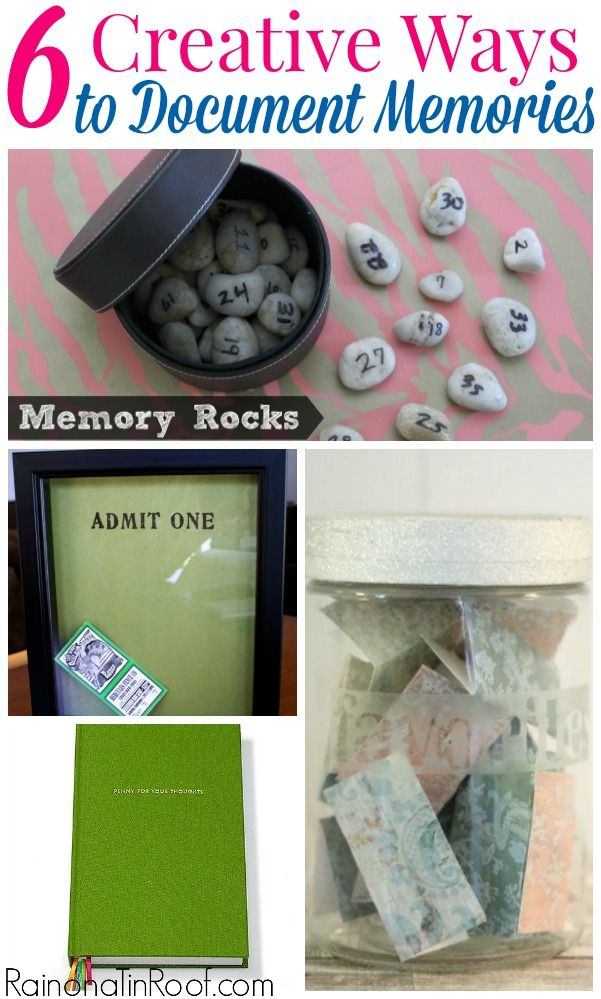 AWESOME ways to remember stuff! And super easy and cheap! 6 Creative and Easy Ways to Document Memories