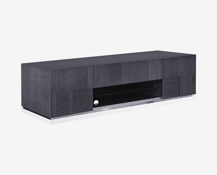 Scandinavian Designs - Your flat-screen TV deserves an entertainment center just as sleek. The Mondiana entertainment base is the answer. The contemporary style is expertly crafted in an attractive grey koto veneer with a protective high gloss finish.
