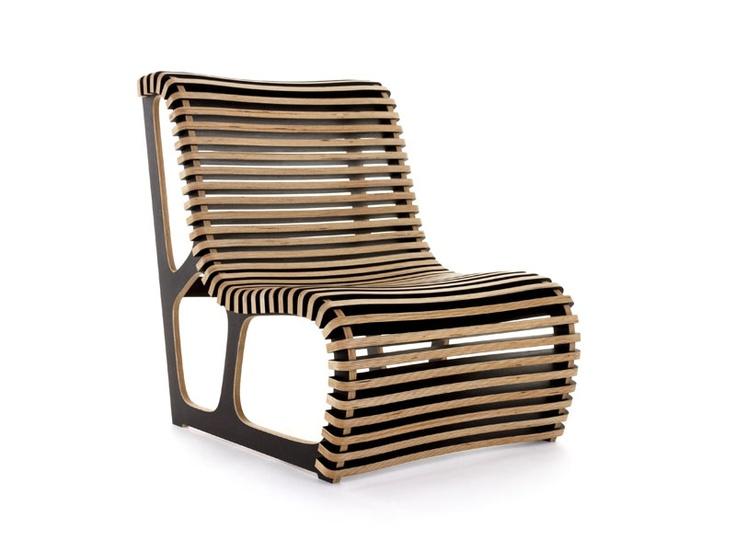 Iterae Easy Chair / Bench Sur Mesure En Bois