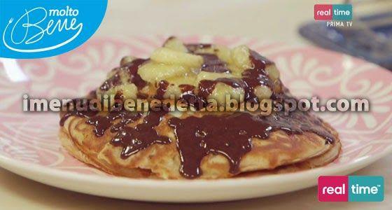 Pancakes alle Fragole con Cioccolato e Banane Caramellate di Benedetta Parodi