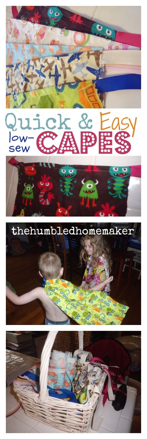 DIY Kids' Capes Tutorial (great for birthday parties and craft days!) - TheHumbledHomemaker.com