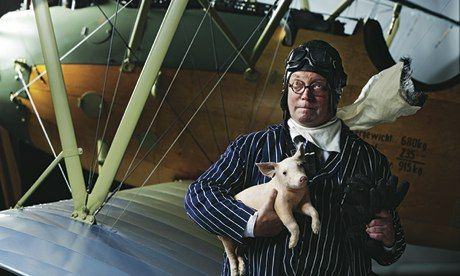 Fergus Henderson at the Royal Air Force Museum, London NW9. Photograph: Murdo Macleod for Observer Food Monthly