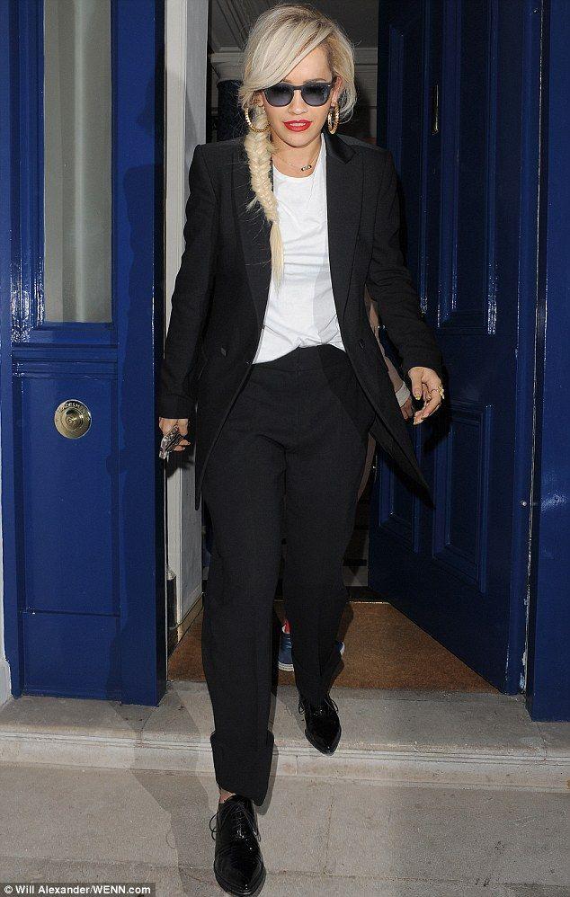 Rita Ora wearing Christian Louboutin Zazou Pointed Toe Patent ...